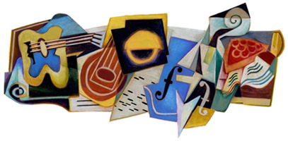 Google Logo: Juan Gris' 125th Birthday - Spanish Painter