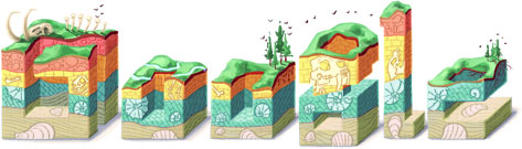 Google Logo: Nicolas Steno's 374th birthday, Danish pioneer in both anatomy and geology